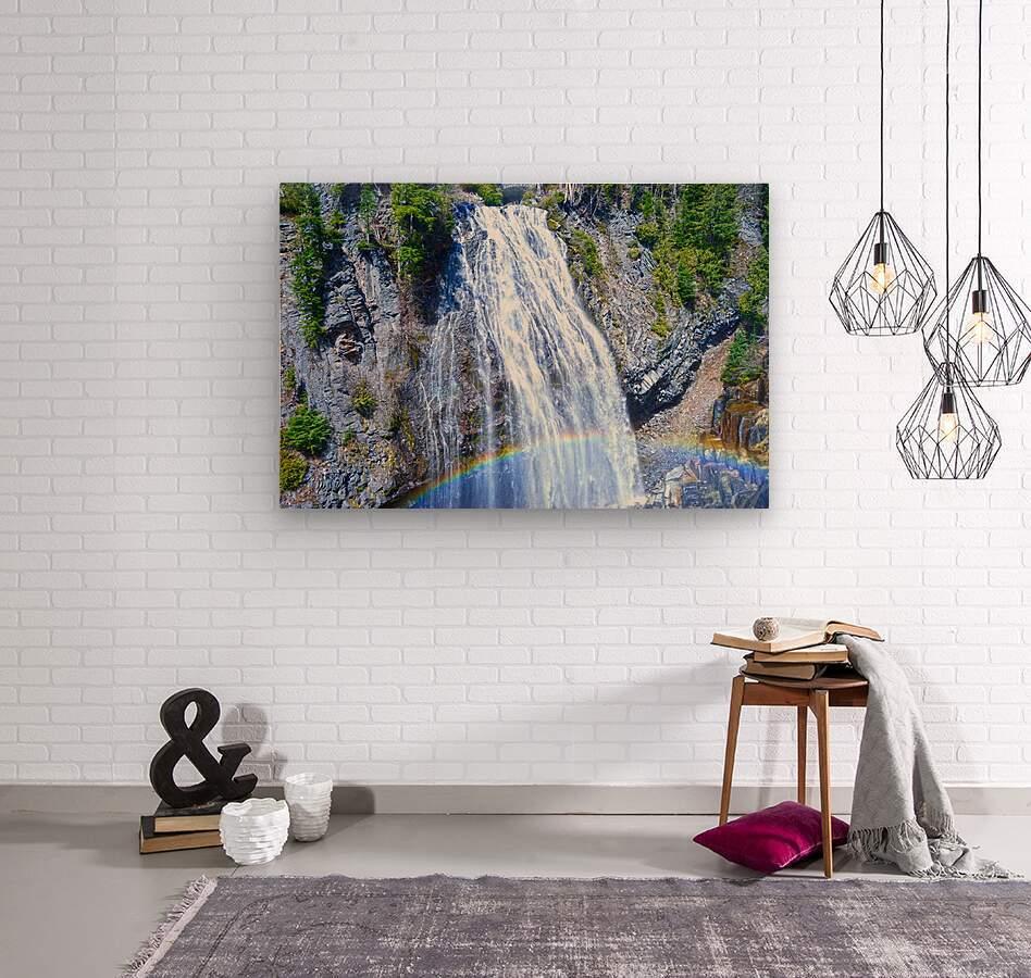 Rainbow Falls Rainier  Wood print