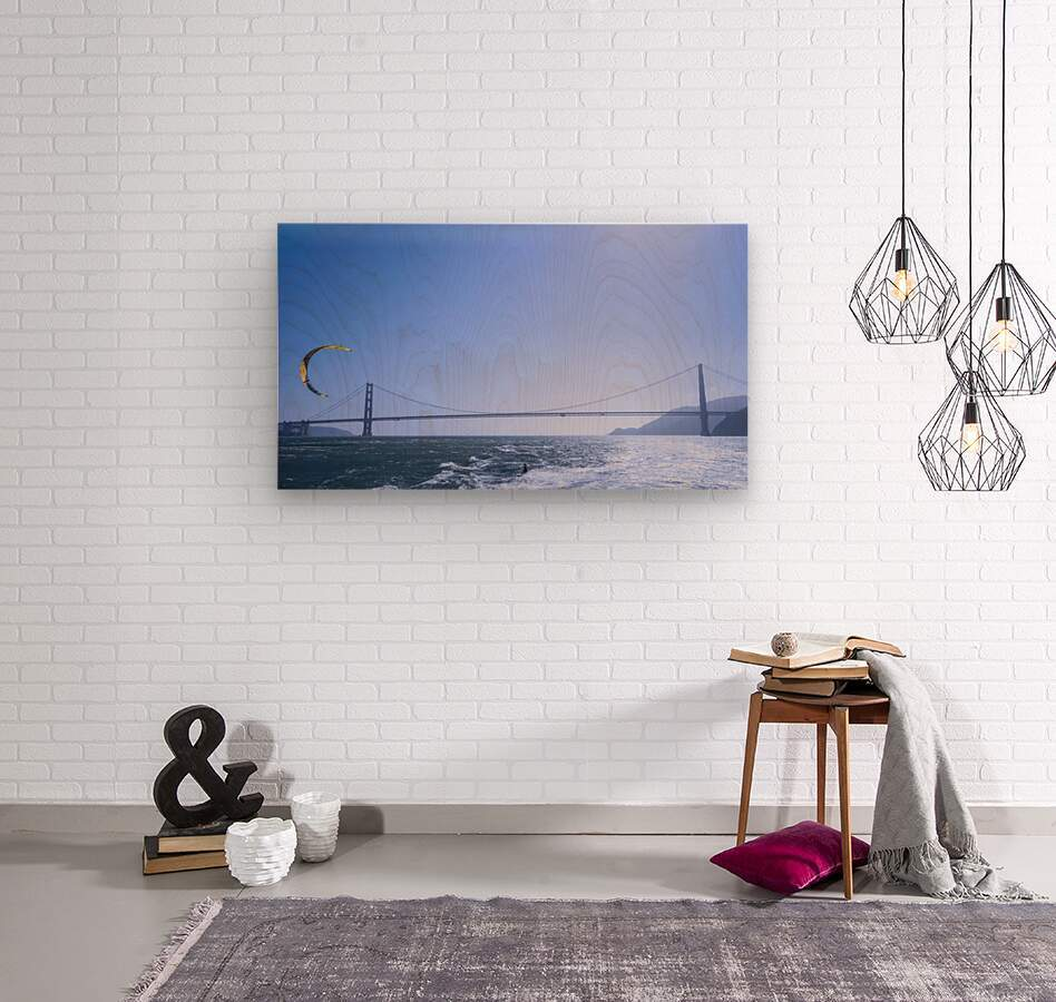 Wind Surf the Bay @ San Francisco  Wood print