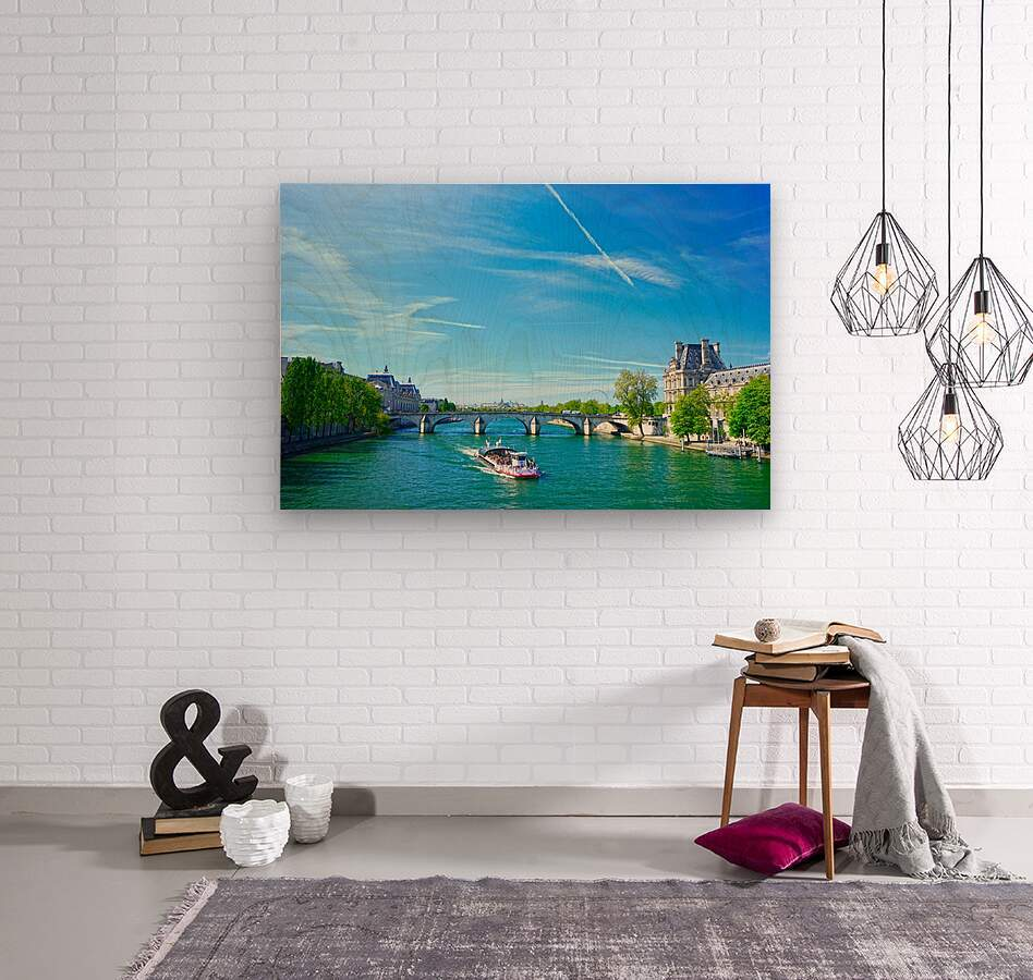 Paris Snapshot in Time 6 of 8  Wood print