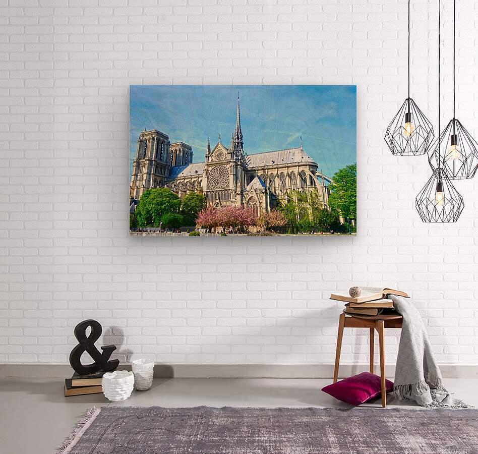Notre Dame @ Paris  Wood print