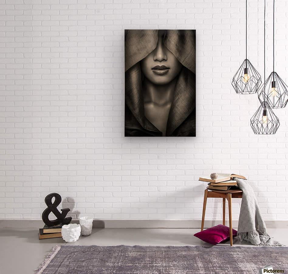 Hood by azalaka    Wood print