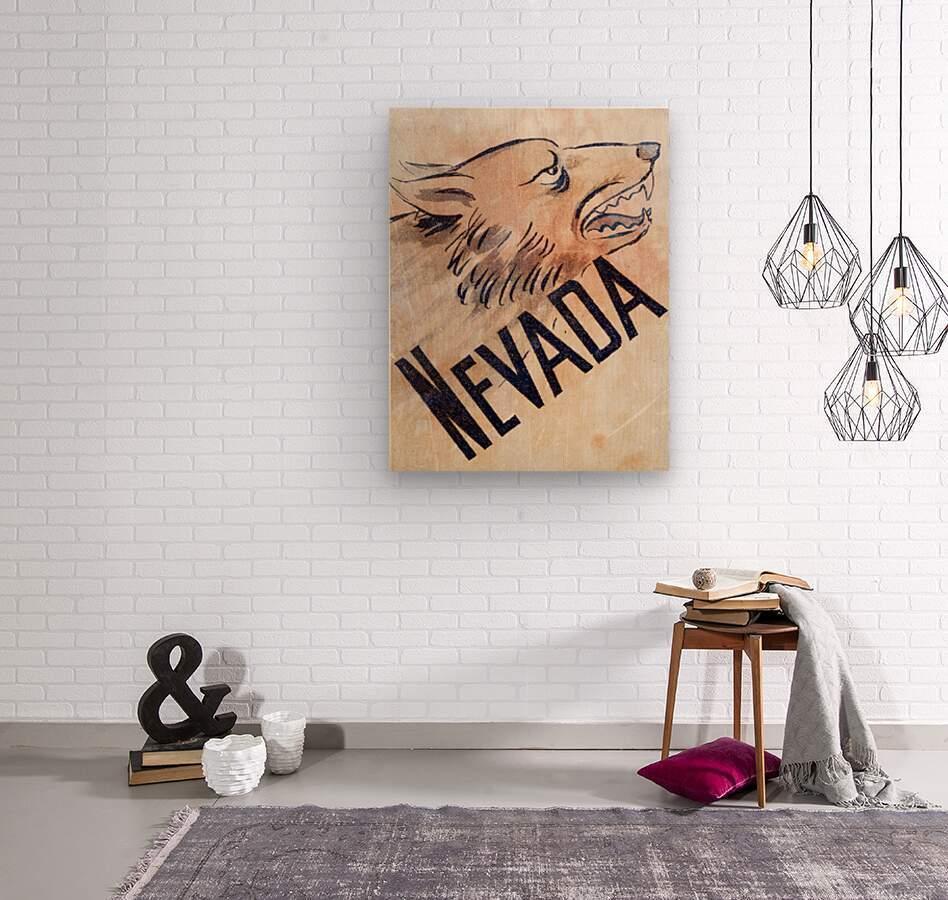 1946 Nevada Wolfpack Art  Wood print