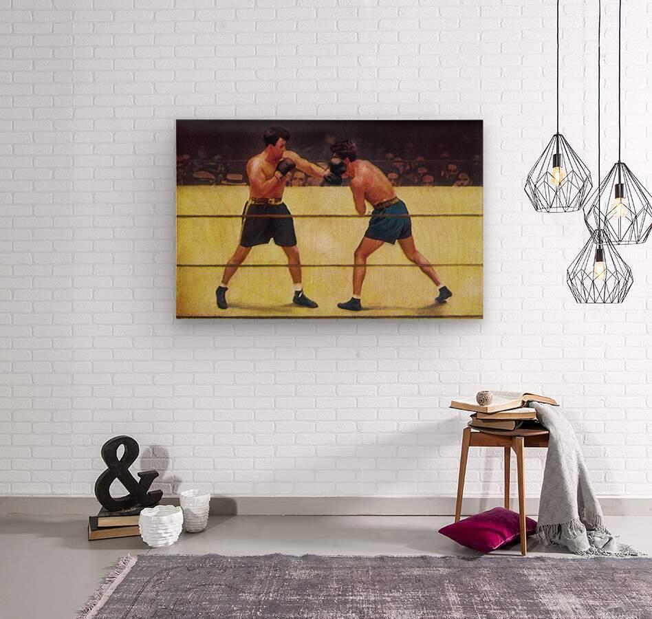 Vintage Boxing Art  Wood print