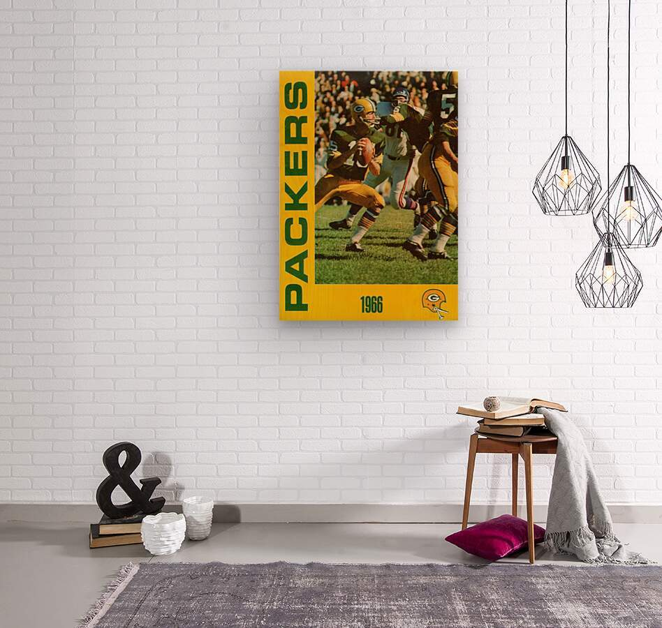 1966 Green Bay Packers Football Art  Wood print