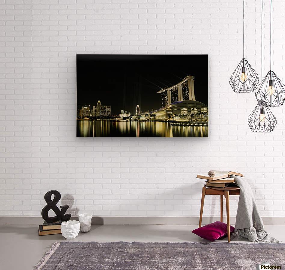 Night in the City by hardibudi    Wood print