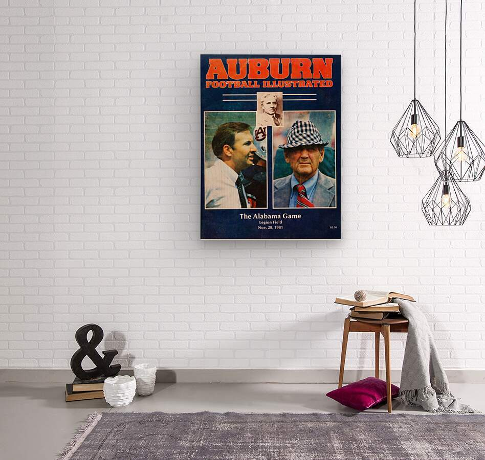 1981 Alabama vs. Auburn Program Cover  Wood print