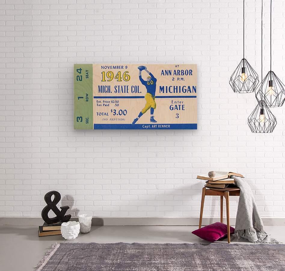 1946 Michigan vs. Michigan State  Wood print