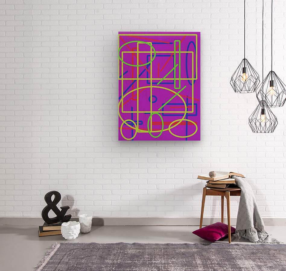 The matrix   Wood print