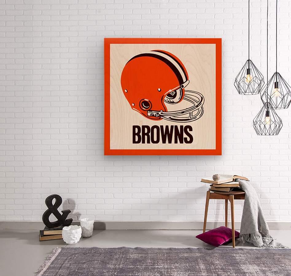 1971 Cleveland Browns Helmet  Wood print