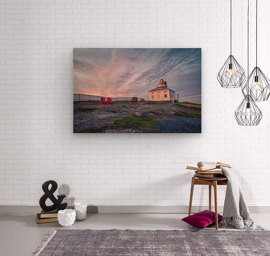 Cape Spear Sunrise  Wood print