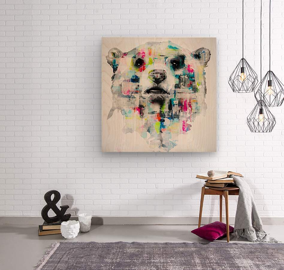L ours  Wood print