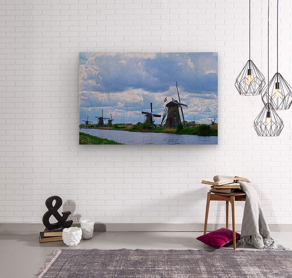 Windmills of the Netherlands 1 of 4  Wood print