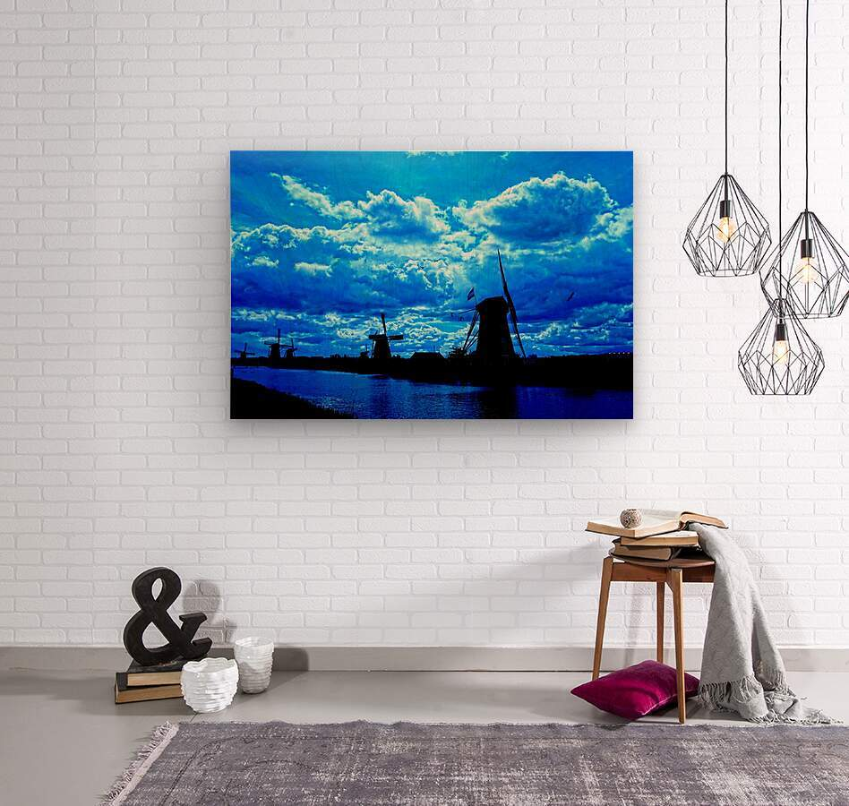 Windmills of the Netherlands 4 of 4  Wood print