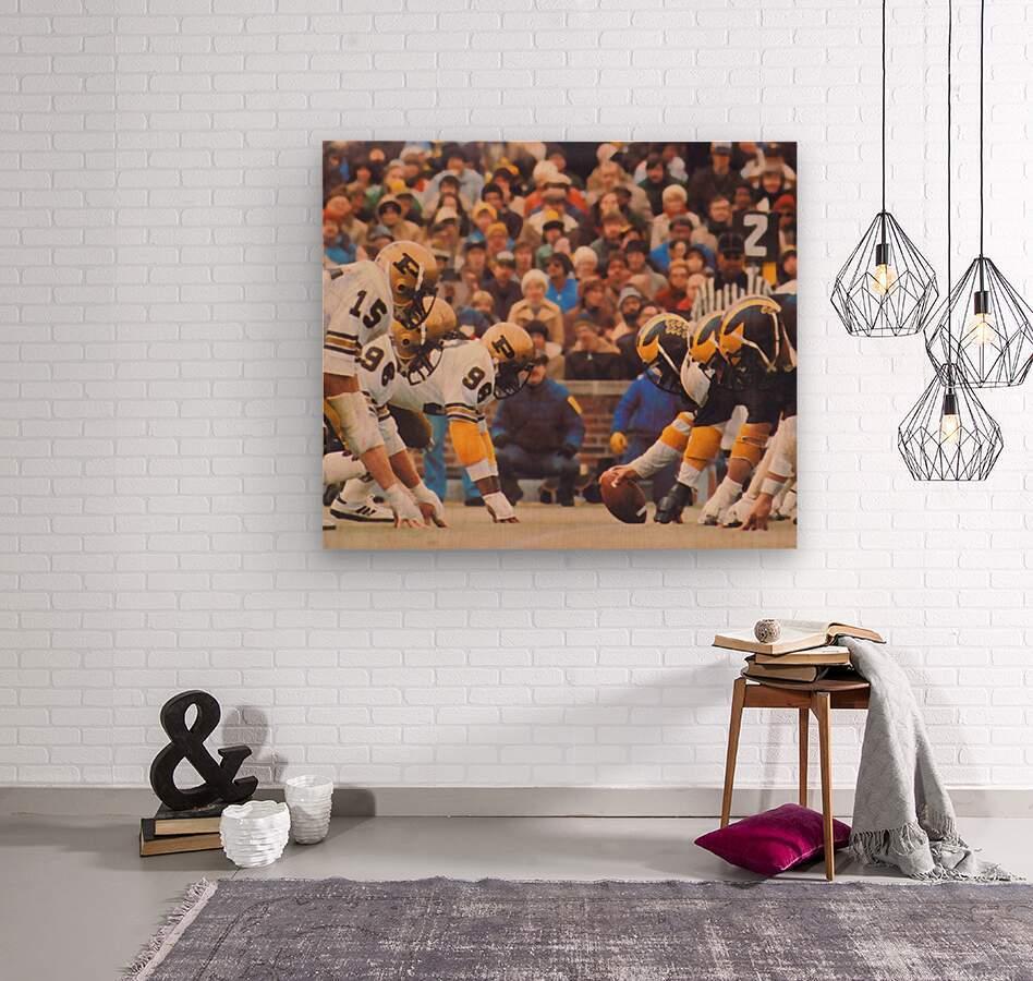 Purdue Football Art  Wood print