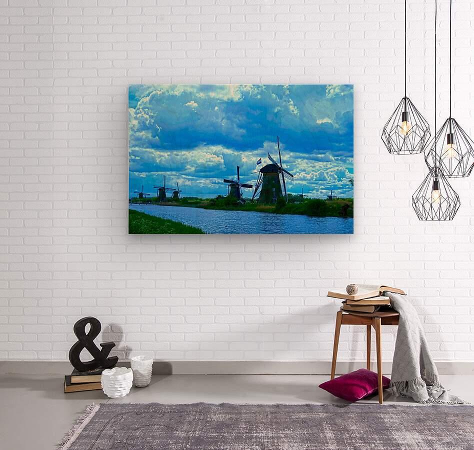 I Dreamed of Windmills  Wood print