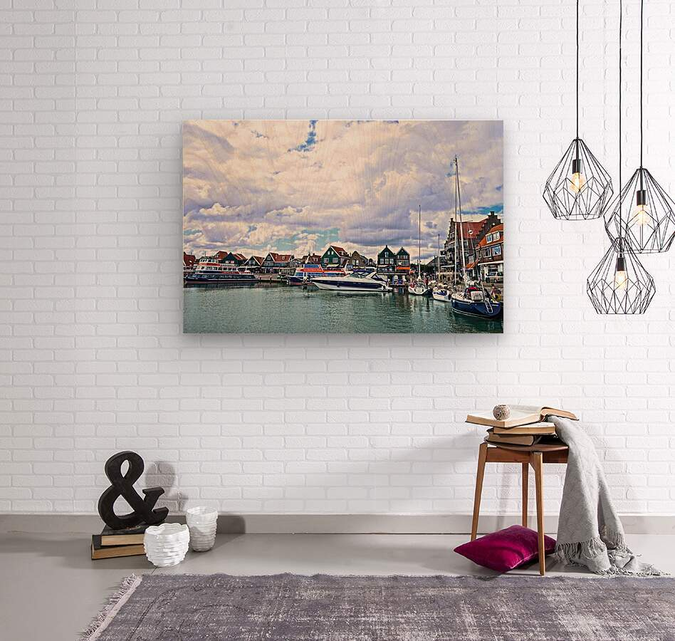 Inland Harbor Netherlands 1 of 5  Wood print