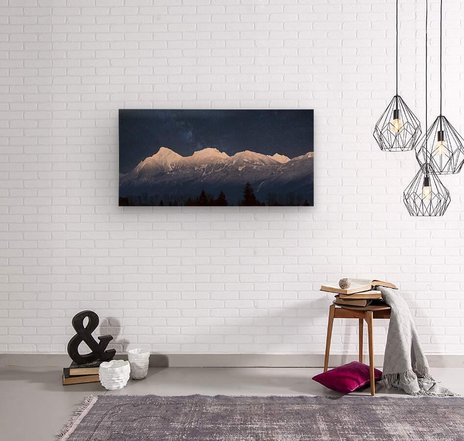 Mt. Cheam Range In Snow  Wood print