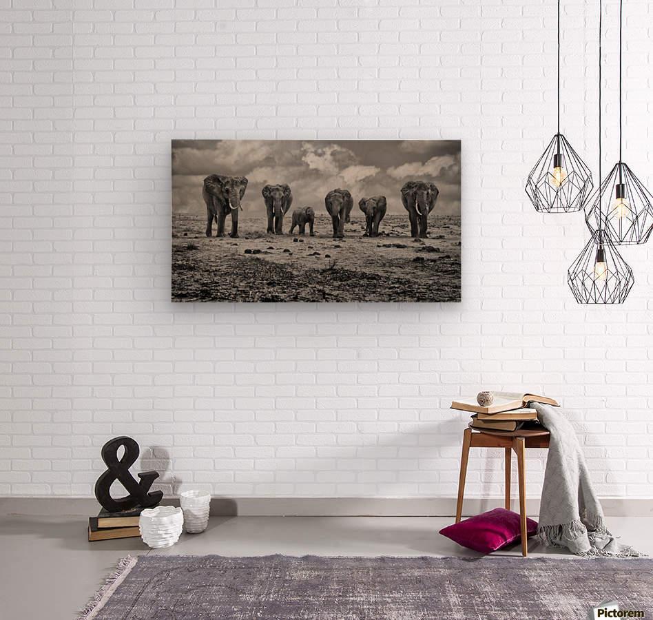 Big Family  Wood print
