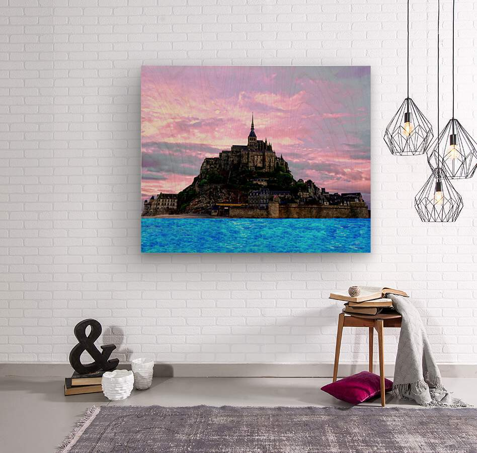 Mont St Michel at Sunset  Wood print