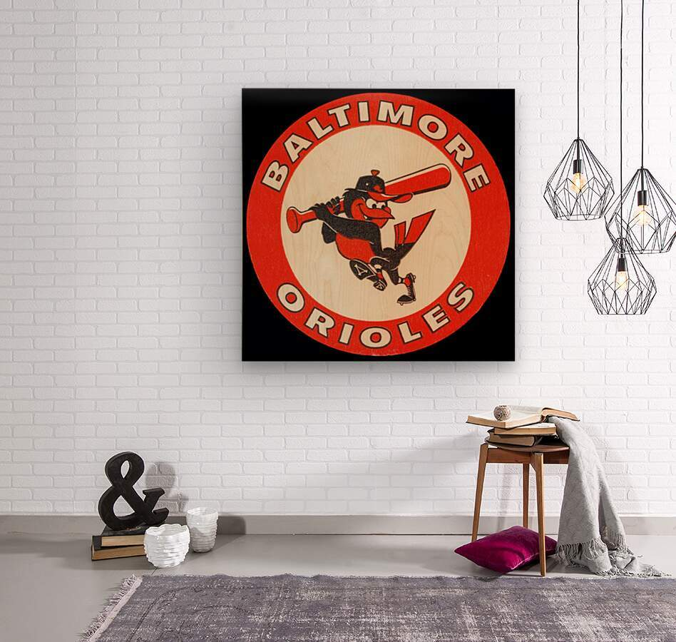 1960s Baltimore Orioles Art  Wood print