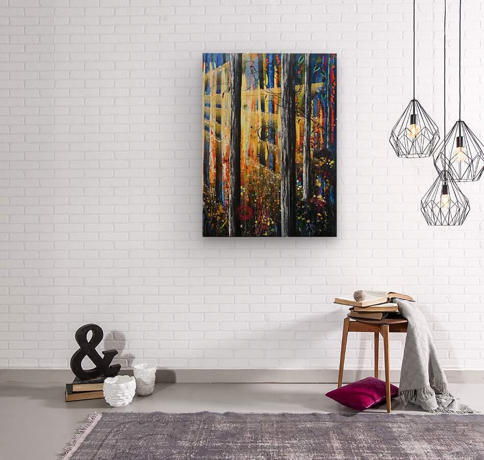 ascension 2  Wood print