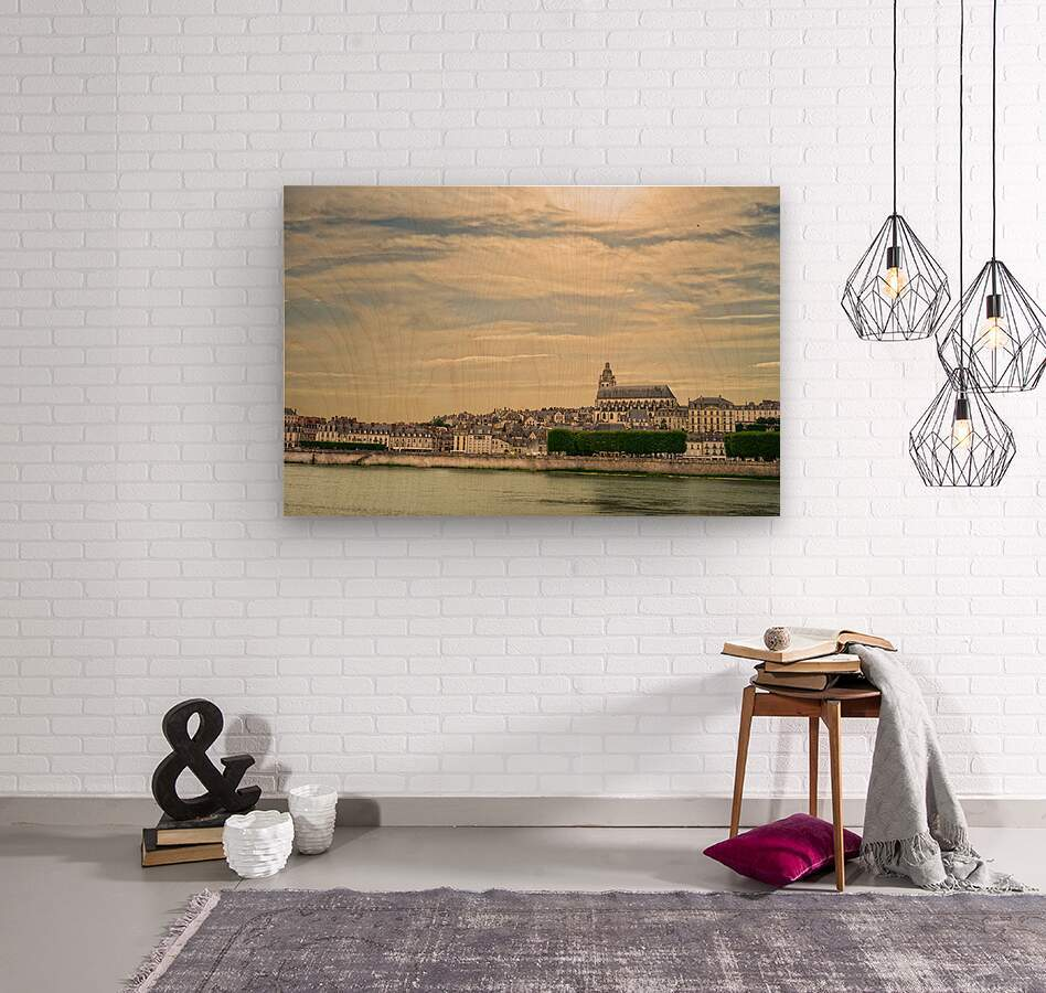 Cathedrale Saint Louis Across the Loire  Wood print