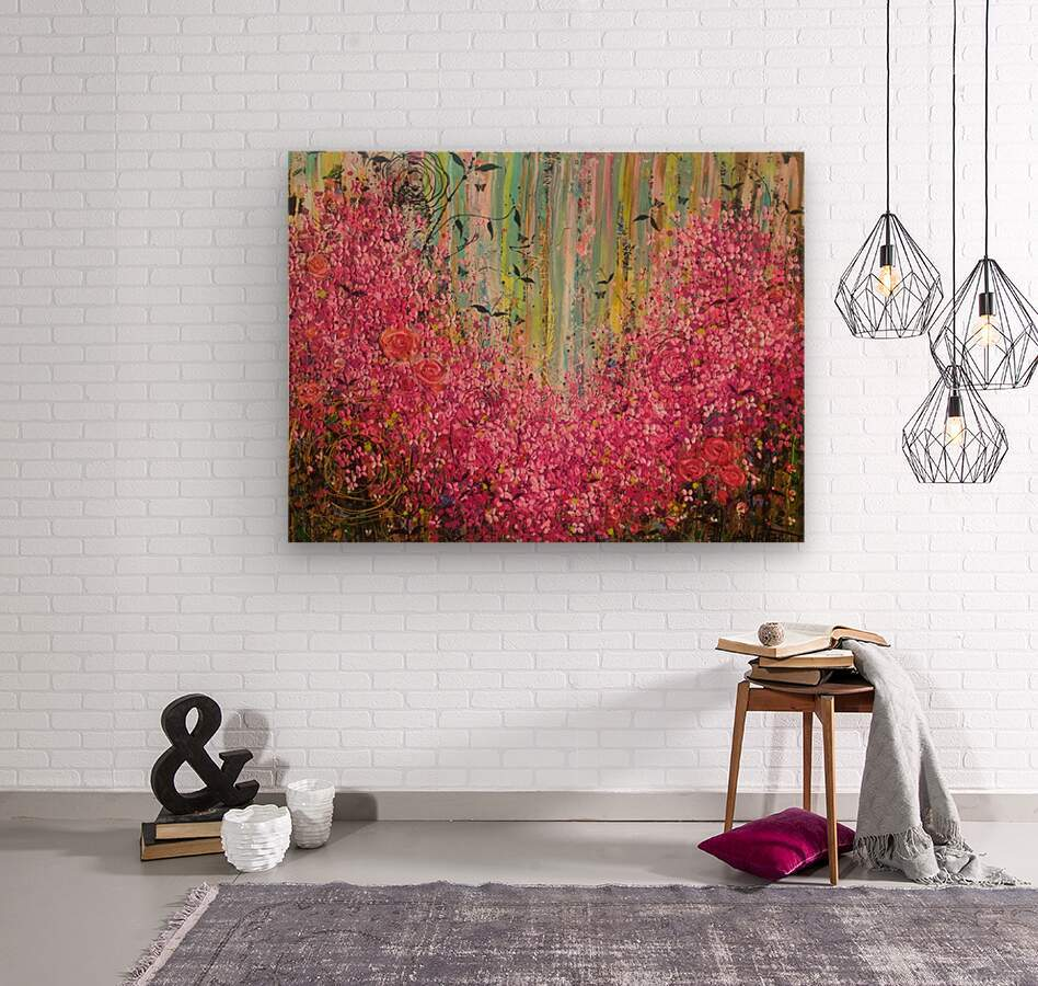 Floral Cascade   Wood print