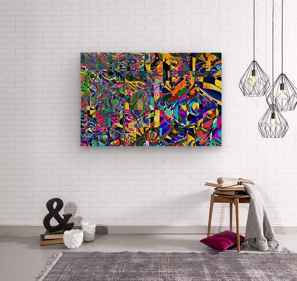 Eclosion fractale  Wood print