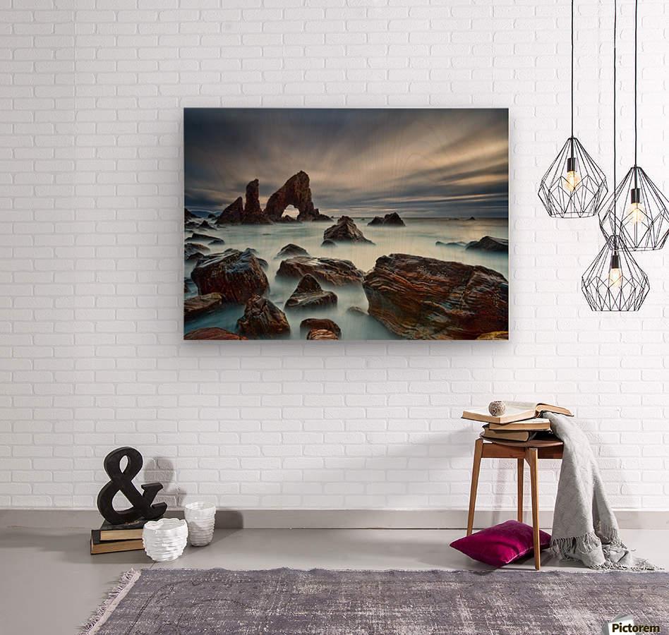 Sea Arch at Crohy Head by Derek Smyth   Wood print
