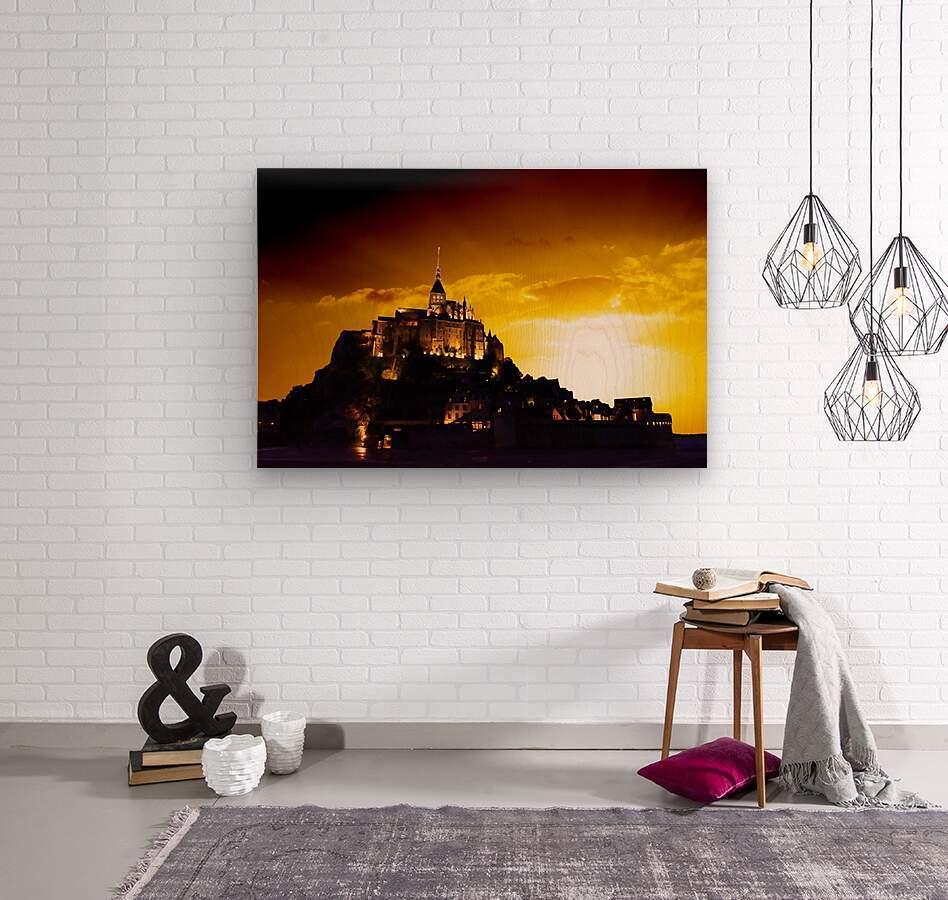Majestic Mount Saint Michael  Wood print