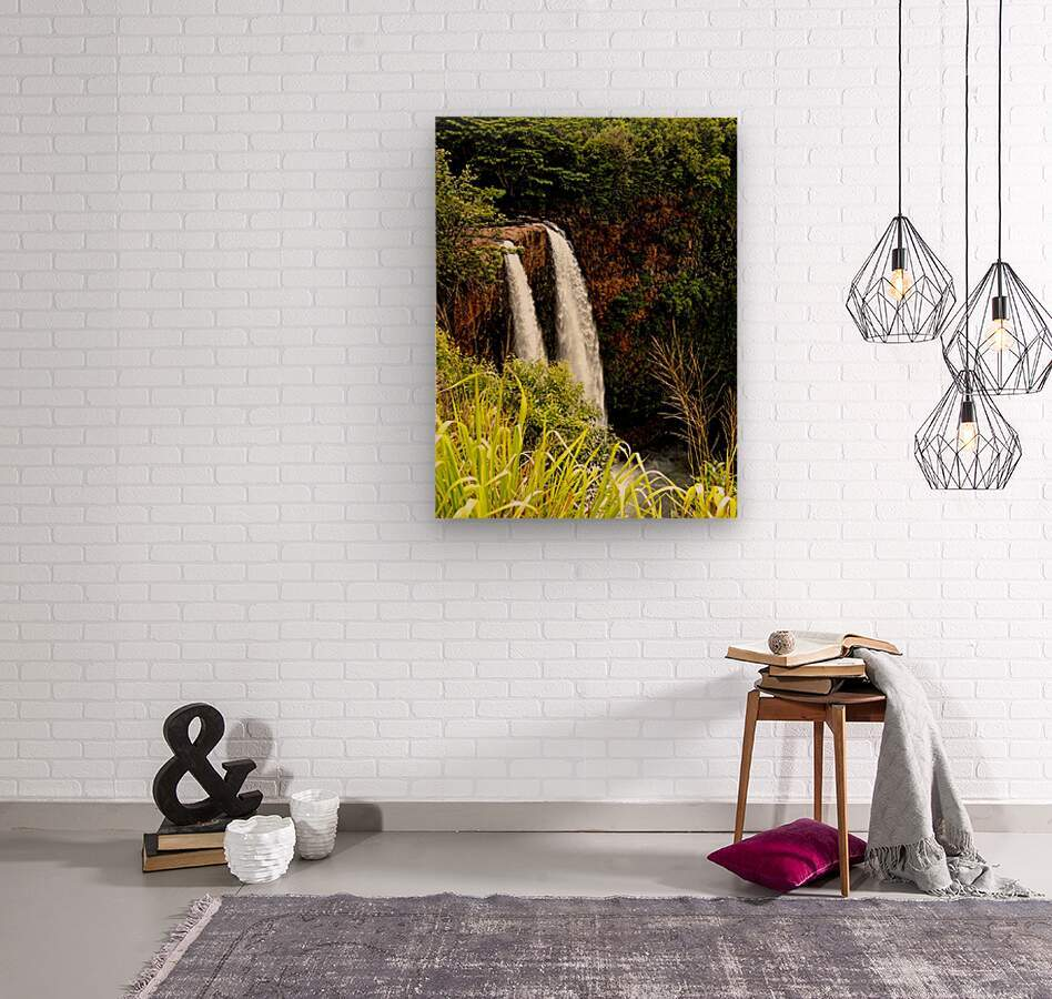 Kauai Waterfalls  Wood print