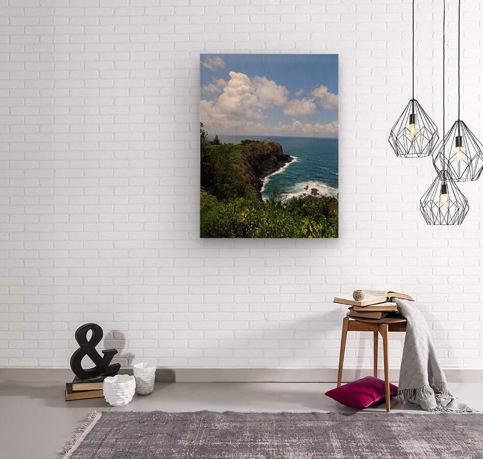 Kauai Lighthouse  Wood print