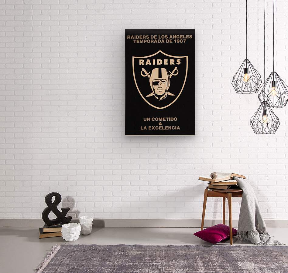 1987 Raiders Un Cometido A La Excelencia Poster  Wood print