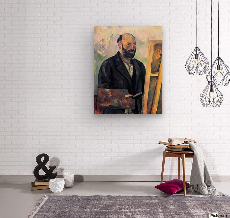 Self-portrait with Pallette by Cezanne  Wood print