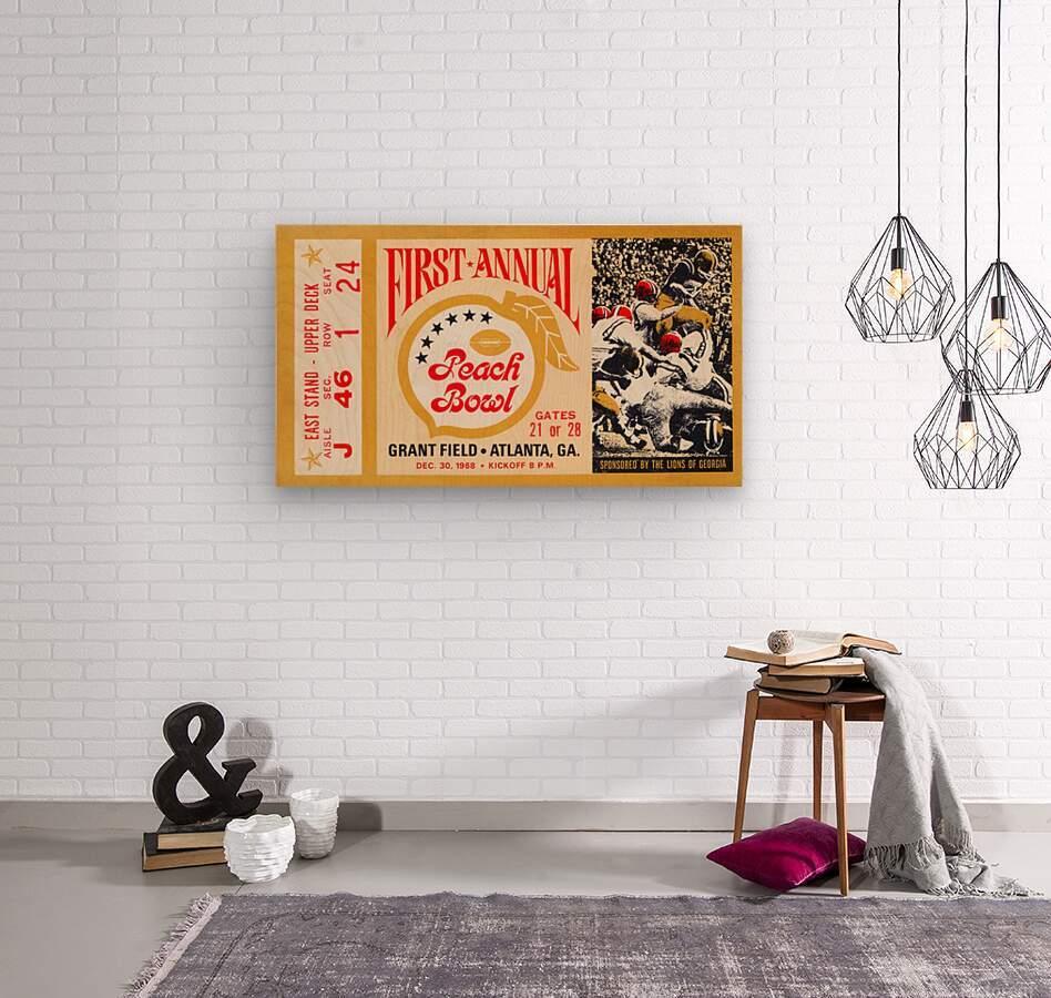 1968 First Peach Bowl LSU Win  Wood print