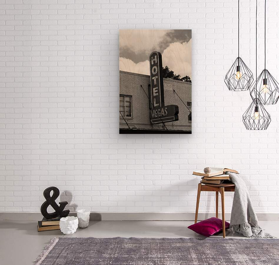 HOTEL VEGAS  Wood print