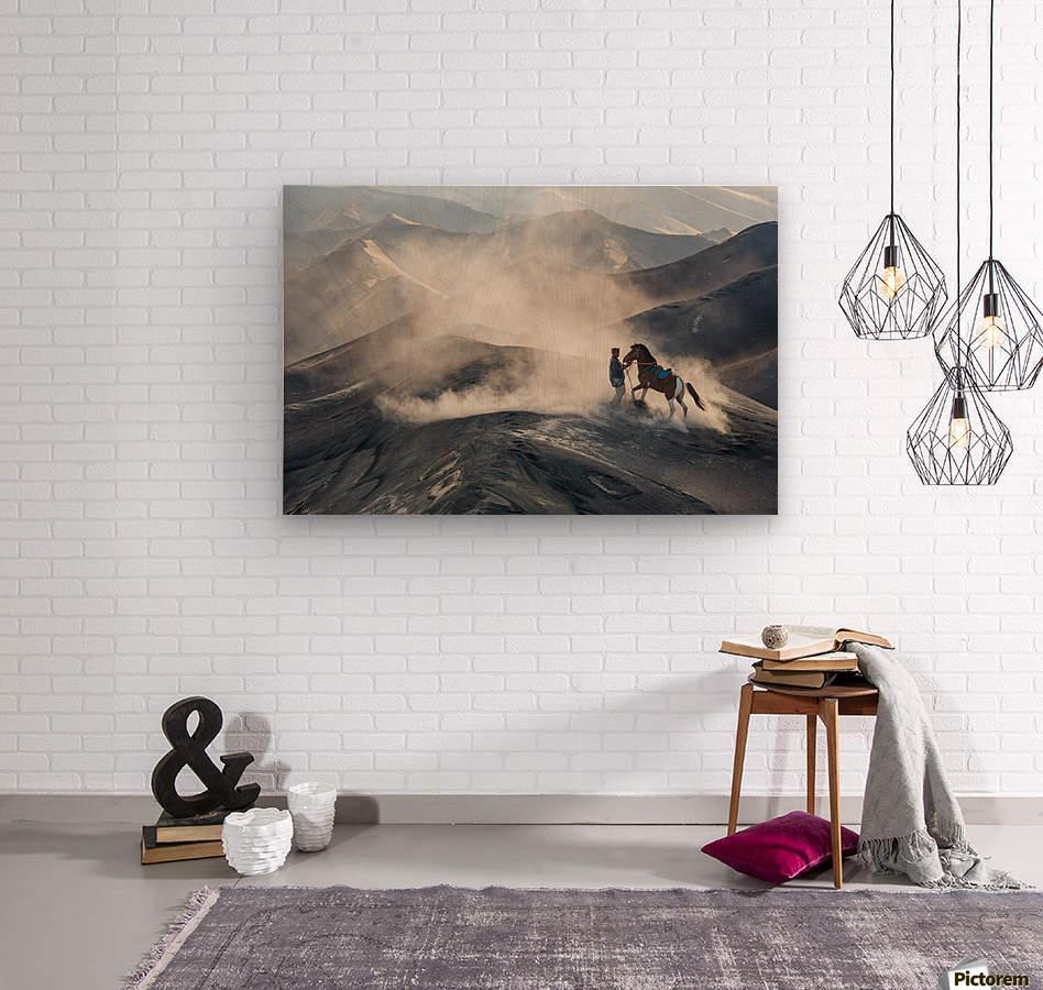 The Horseman  Wood print