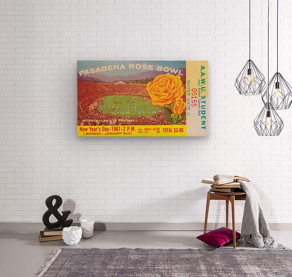 1961 Rose Bowl Washington Win  Wood print