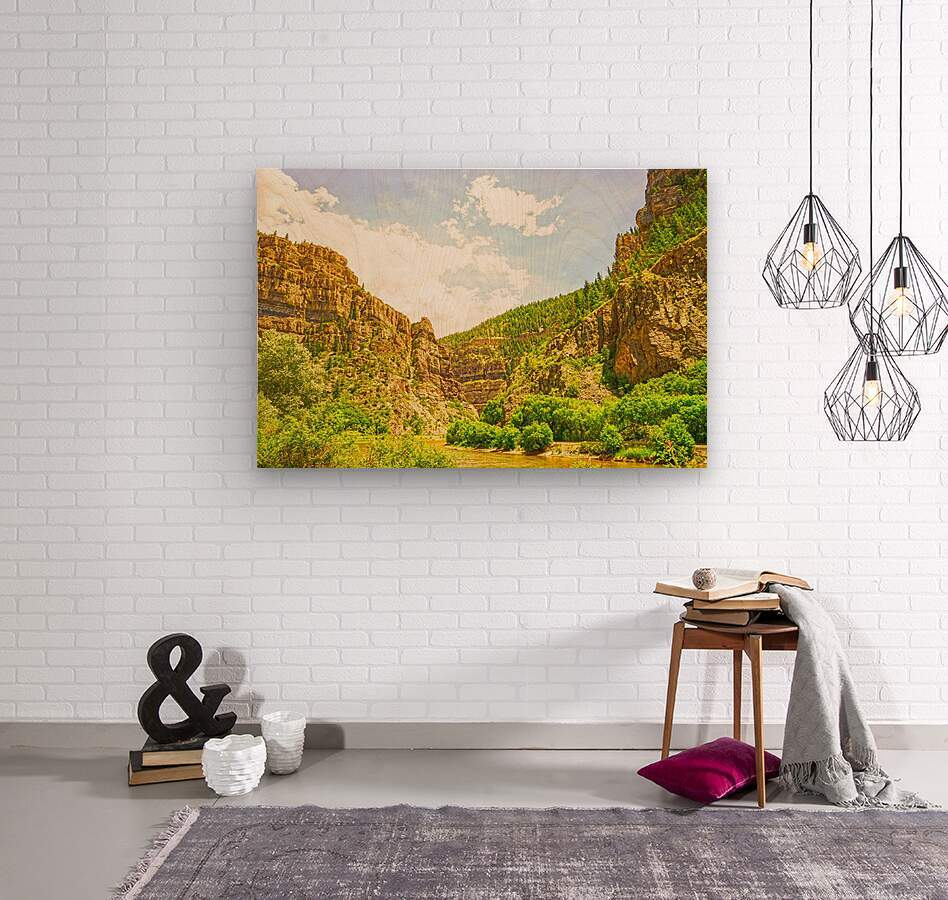Golden Colorado 2  Wood print