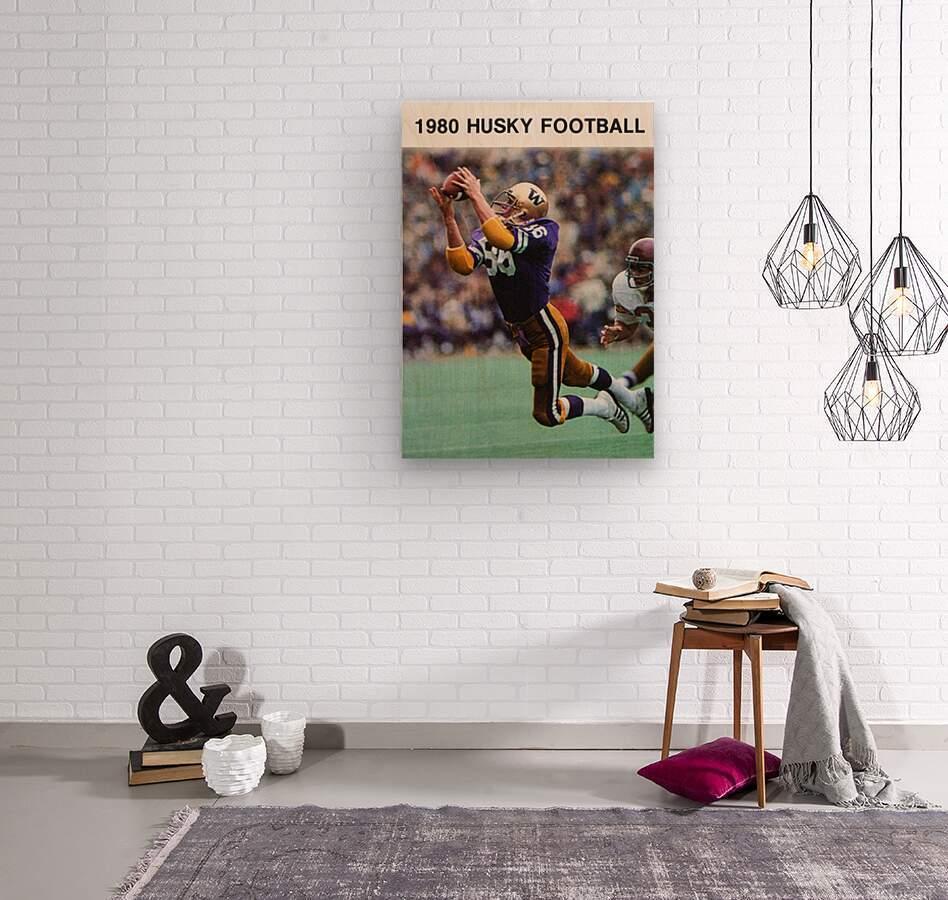 1980 Washington Huskies Football Poster  Wood print