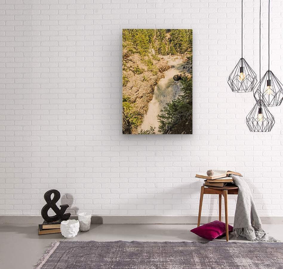 Rocky Mountain Rapids and Waterfalls 6 of 8  Wood print