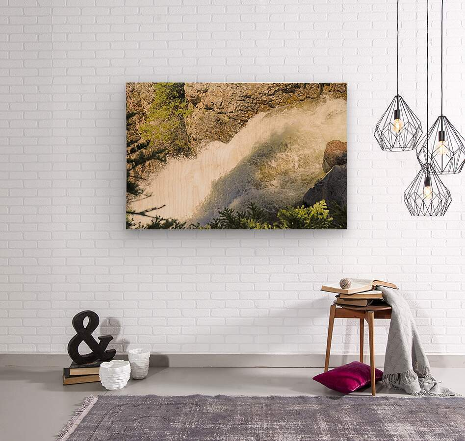Rocky Mountain Rapids and Waterfalls 7 of 8  Wood print