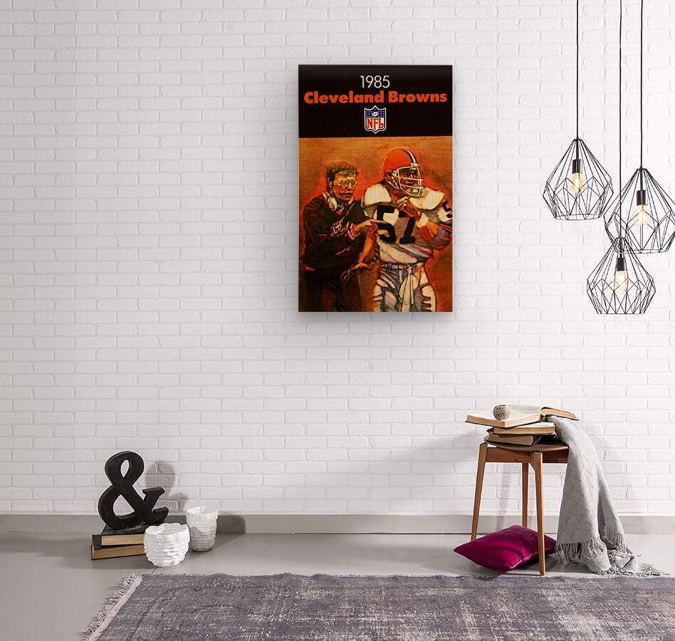 1985 Cleveland Browns Football Poster  Wood print