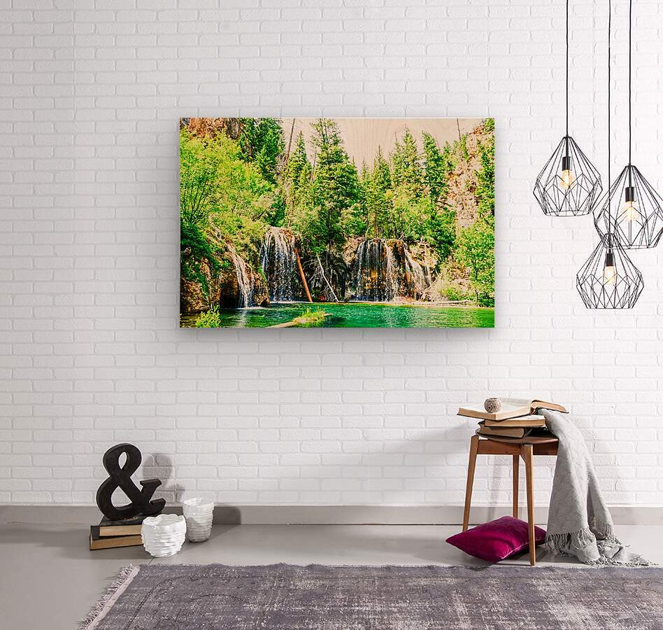 Waterfall Country Colorado 3 of 4  Wood print