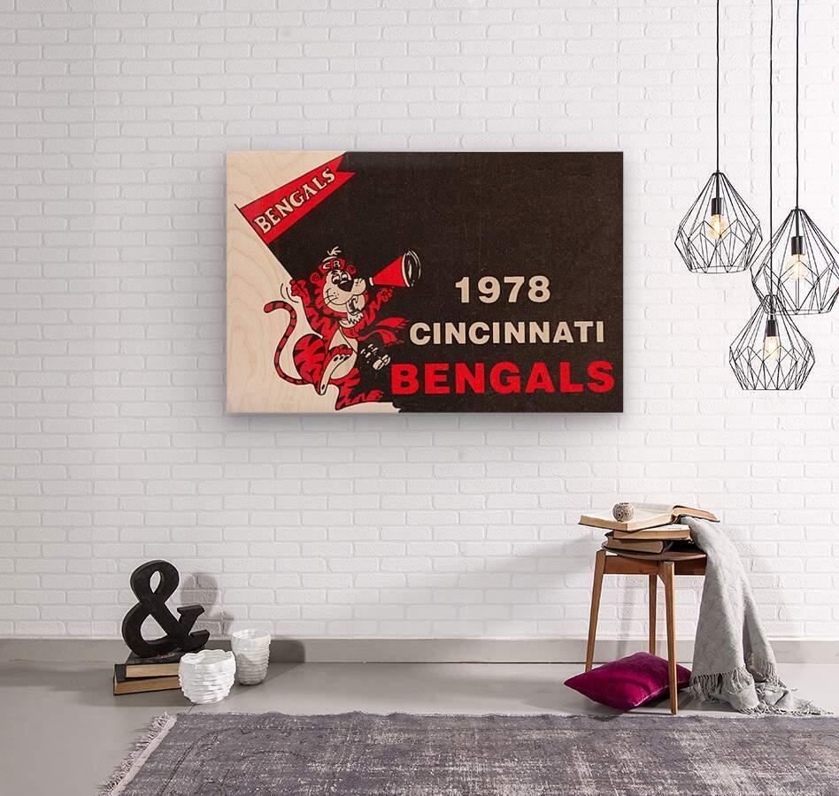 1978 Cincinnati Bengals Poster    Wood print