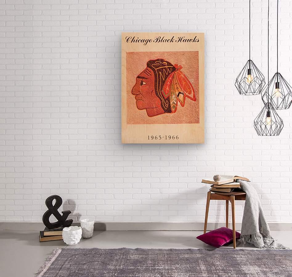 1965 Chicago Black Hawks Art  Wood print