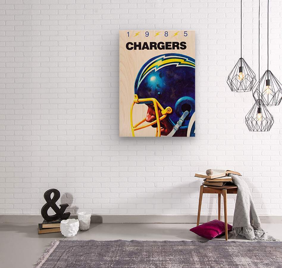 1985 San Diego Chargers Football Poster  Wood print