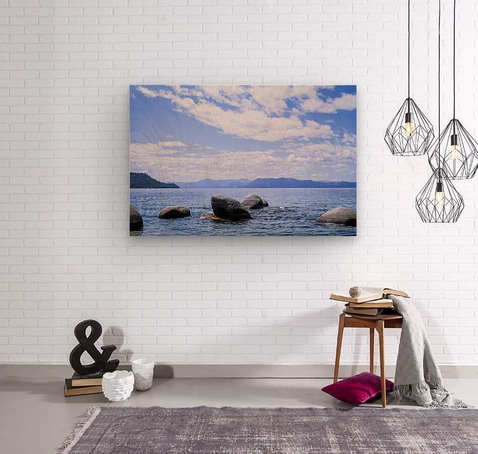 Perfect Day at the Lake  Wood print