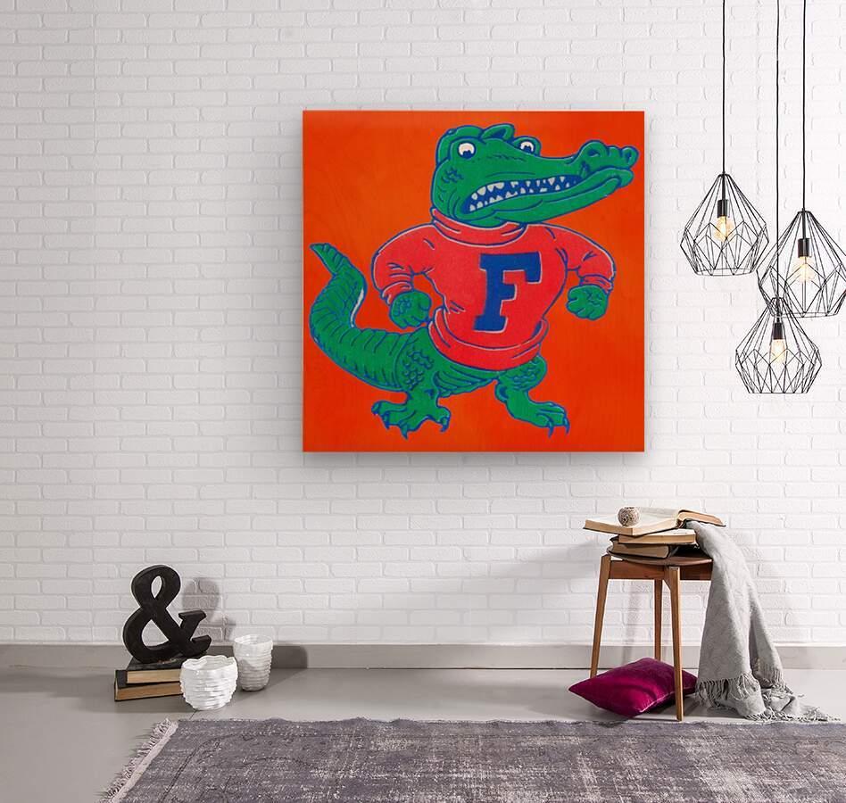 Retro Florida Gator Art  Wood print