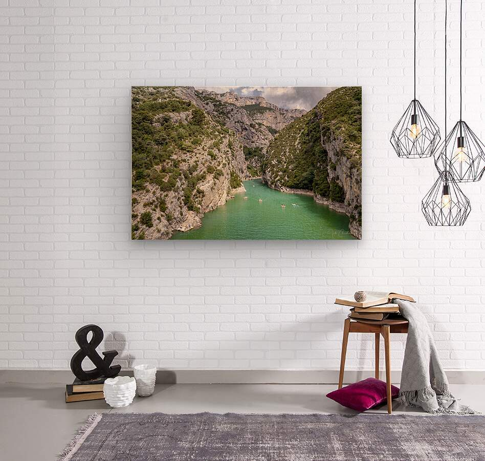Les Gorges du Verdon  Wood print